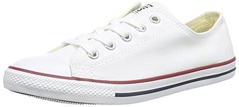 Converse CT Dainty Ox C537204 Damen Sneaker, Weiß (Blanc/Rouge), 37 EU