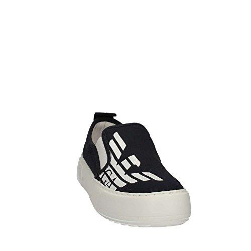 Emporio Armani EA7 slip on donna nuove sneakers originali master bianco Navy blue