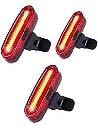 LED Fahrradbeleuchtung Fahrradlicht, Nourich Wasserdicht 6 Modi Fahrradleuchte Fahrradbeleuchtung, Fahrradlampe Fahrradlicht, Rücklicht, Aufladbare Fahrradlichter Für Camping Angeln Warnlicht (3 PC)