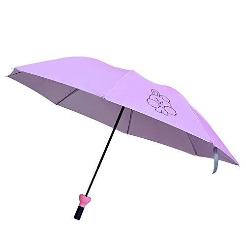 comehai Regenschirm automatische tragbare Reise Regenschirm Geschenktüte Trockenbeutel,Bonbonfarbener Taschenschirm Sonnenschirm Farbe2 100cm