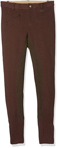 HKM 541103 - Pantalones de equitación Penny 3/4 infantil, color Marrón Oscuro,...
