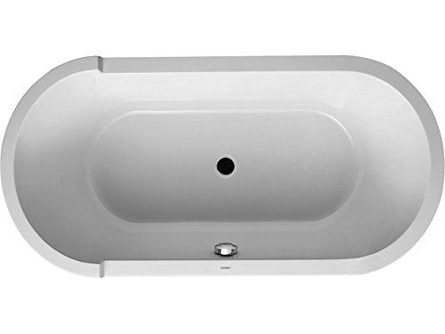 Duravit Badewanne Starck 1600x800mm, oval R-Schräge, Acrylverkleidung, Gestell, weiß, 700409000000000