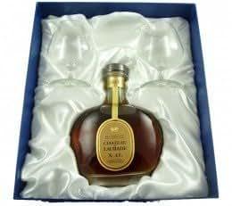 Chateau de Laubade XO Armagnac brandy and 2 glasses