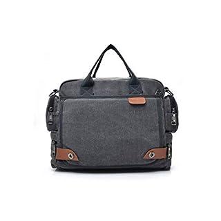 Charles Männer Multifunktions.Canvas Business Laptop Bag Briefcase Handtaschen - Grau