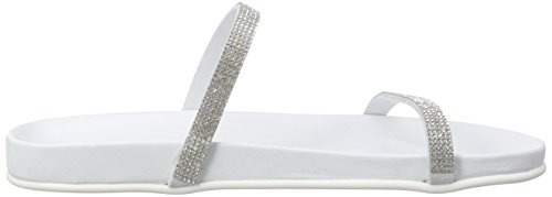 Inuovo6128 - Sandali Donna Bianco (WHITE LEA-WHITE STRASS)