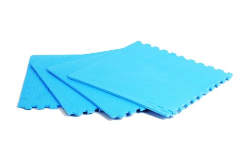 FA Sports Bodenschutzmatte Protectfloor Xtra Set 4pcs, Blue, 60 x 60 x 1.2 cm, 622