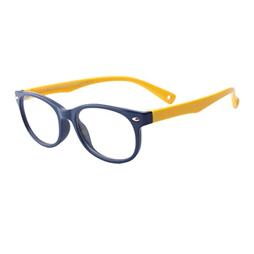 Juleya Kinder Gläser Rahmen - Silikon - Kinder Brillen Clear Lens Retro Reading Eyewear für...