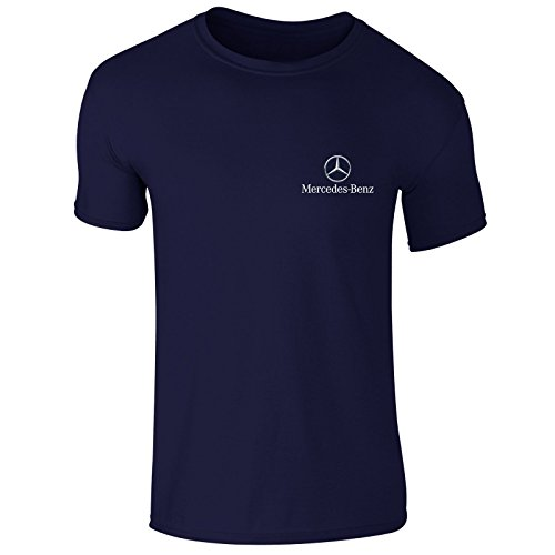 New Mens Mercedes Benz German Car Logo Emblem Moter Sports Club T Shirt Top S-XXL (X-Large) Navy (Logo-shirt Blaue)