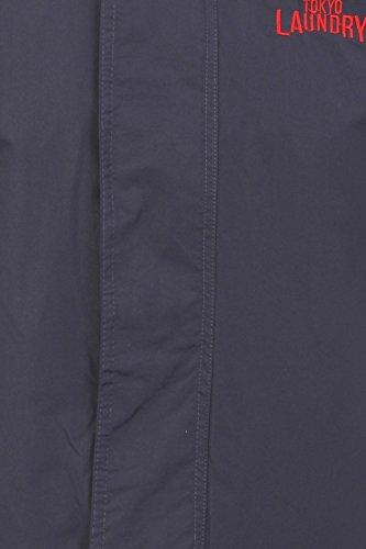 Tokyo Laundry Herrenjacke Sandheys Windjacke Mit Kapuze Mantel Mitternachtsblau