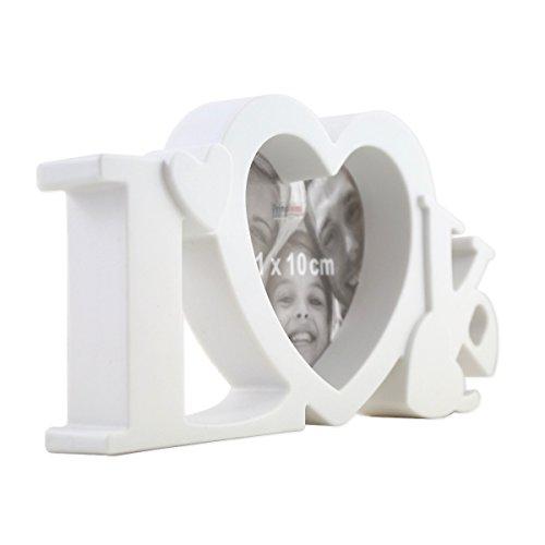 PrimoLiving Love Bilderrahmen in 3D Optik mit Glasscheibe in Weiß P-336