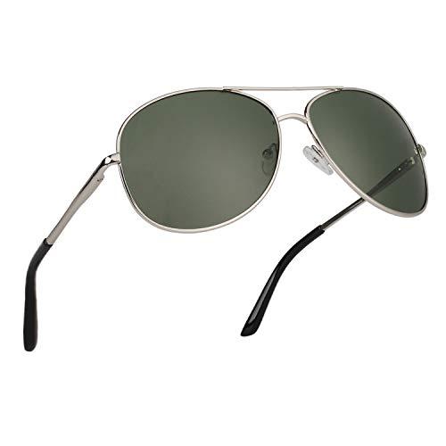 CGID Polarisierte UV400 Schutz Prämie Al MG Metall Rahmen Pilot Sonnenbrille Pilotenbrille Für Herren GA03