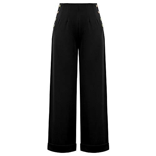 Curlbiuty Pantaloni Donna Eleganti a Palazzo di Vita Alta con Cintura Pantaloni Larghi e Leggeri per Primavera Estate Taglie Forti