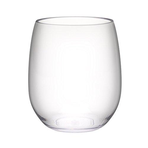 Zak Designs 0025-P560 Trinity Wine Glasses 15 oz. Clear