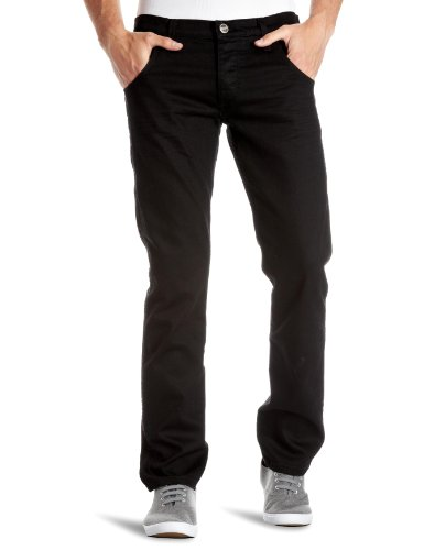 Wrangler - Jeans slim da uomo, nero(noir (used - pitch black)), 44/46 it (31w/34l)
