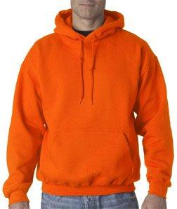 Gildan Heavyweight Blend (Gildan Heavyweight DryBlend Unisex Kapuzenpullover / Hoodie / Kapuzensweater S,Sicherheitsorange)