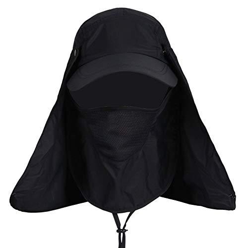 ZGYQGOO Wide Brim Ishing Bucket Hat - Außenatmungsaktive Summer Sun UV-Kappe - Gesichtsnackenschutz Anti-Moskito-Mütze für Fischer