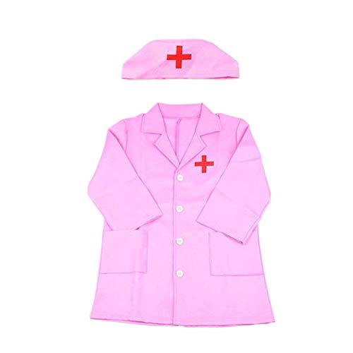 (EisEyen Krankenschwester Doktor Kostüm Kinder Cosplay Kostüme Rollenspiel Kleidung für Kinder Rosa/Weiß)