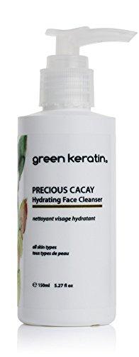 Green Keratin Precious Cacay Feuchtigkeitsspendende Gesichtsreiniger. Reines Pflanzenbasierte Reinigungslotion für strahl strahlender Teint. Professionelle Anti-Aging. Seifenfrei.