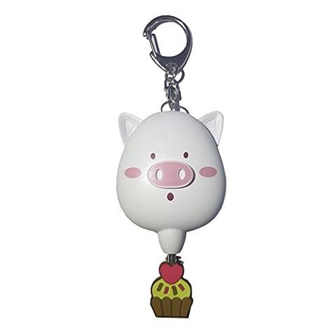 DiChi Cute Little Alarm Blanc Piggy -Urgence Sécurité Personnelle Alarme