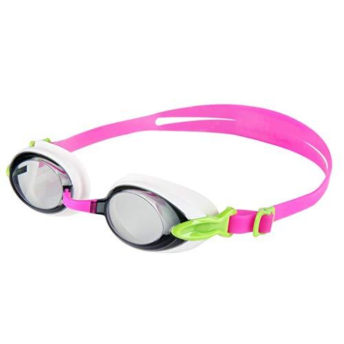 ZTMN Schwimmbrille Goggles HD Männer und Frauen Schwimmbrille transparent wasserdicht Anti-Fog-Mode-Stil Silikon (Farbe: PINK)