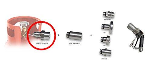lpg gas bottle filling adaptor REMOTE 2m with non return valve autogas caravans 3