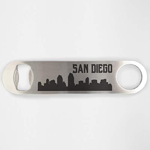 San Diego Skyline Edelstahl Heavy Duty Flat Bar Schlüssel Bier Lasergravur Flaschenöffner
