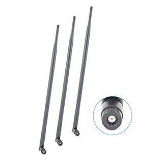 APL-PWR 3 x 9dBi 2.4GHz 5GHz Dual Band WiFi RP-SMA Antennas for Asus RT-AC66U RT-N66U RT-N16 AC1750 Wireless Routers D-Link DIR-880L DAP-2695 DAP-2590 DAP-2555 Omni Directional Wireless Range Extension