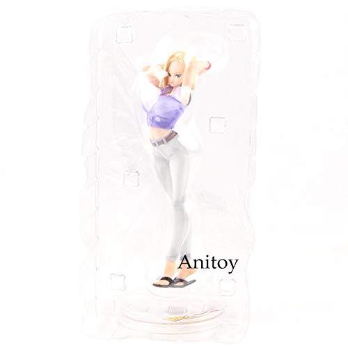 gur Dragon Ball Z Dragon Ball Mädels Android NO.18 Ver.III PVC Anime Mädchen Figuren Sammeln Modell Spielzeug Puppe 19 cm, in Tasche ()