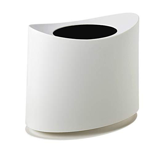 LIQIN 2 Couche Poubelle Poubelle poubelles 10L sans Couvercle en Papier Panier étroit Cuisine Salon Salle de Bain Multicolore 30 * 20 * 35 cm (Color : White)