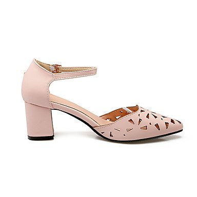 Enochx Donna Sandali Slingback Estate Casual in Similpelle Tacco Chunky fibbia White