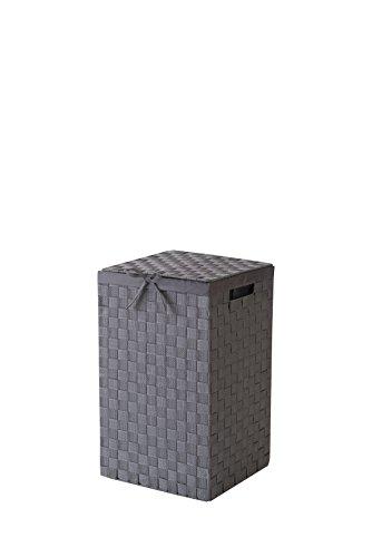 Compactor 30cm rayon cintura tex portabiancheria con coperchio e interno in lino, grigio