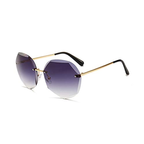 RJYJ Kleine Quadratische Polarisierte Sonnenbrille Der Frauen Polygonspiegelglas PC-Material Ultraleichtes Gewicht 40 Gramm (Color : Blue)