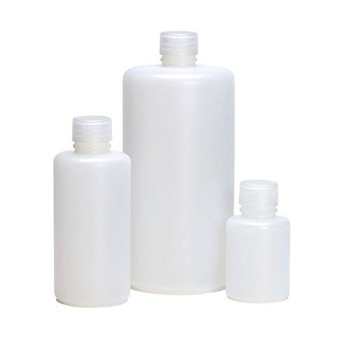 Azlon BNH0250P - Bottiglia con collo stretto, in polipropilene, tappo a vite, in HDPE, 250 ml, 10 pezzi