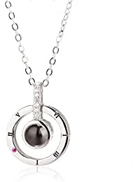 DIGITAL Funda Best I Love You in 100 Different Languages Necklace + Black Box