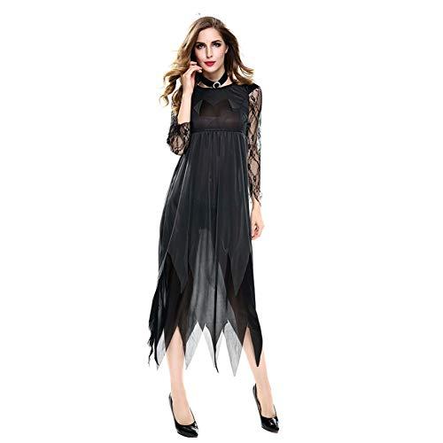 BGFDSV Horror Braut Dress Halloween kostüm für Frauen Vampire Devil kostüm Cosplay geisterbraut Damen Phantasie Party Kleider, schwarz, (Holiday Charakter Kostüm)