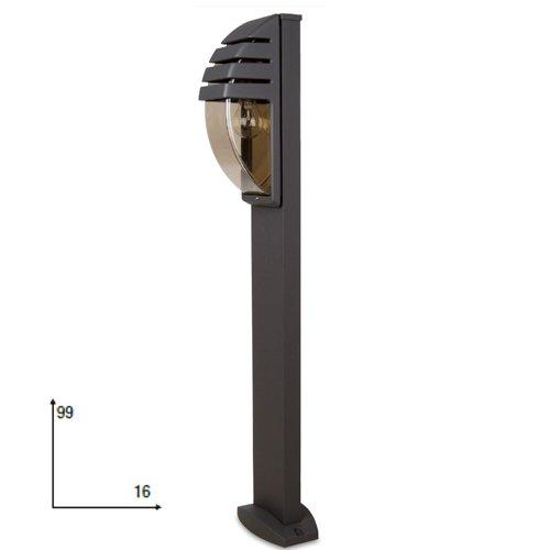 Lampion in alluminio da esterno per arredo giardino cm 99x16