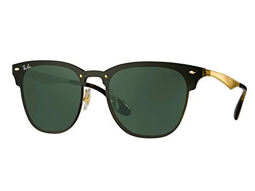Ray-Ban BLAZE CLUBMASTER Gold Grün Classic G-15 47 Sonnenbrille