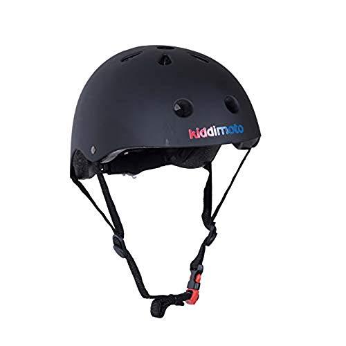 kiddimoto KMH039M - Helm, Größe M, matt schwarz