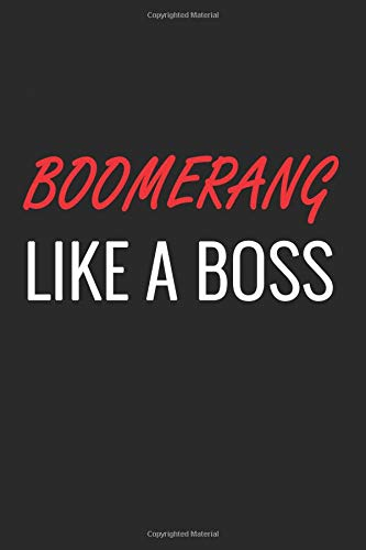 BOOMERANG: A Matte Soft Cover Notebook to Write In.  120 Blank Lined Pages
