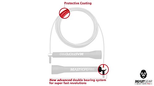 Beast-Gear-Beast-Rope-Pro-Advanced-Speed-Skipping-Rope-for-Fitness-Conditioning-Fat-Loss-Ideal-for-Crossfit-Boxing-MMA-HIIT-Interval-Training-Double-Unders