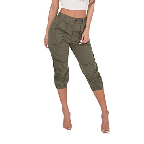 Setsail Damen hohe Taille Pluderhosen Persönlichkeit Hosen Damen Bandage elastische Taille Streifen Freizeithosen Marine High Bib Overall