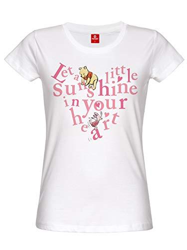 Winnie the Pooh Sunshine in Your Heart Damen T-Shirt Weiß, Größe:L