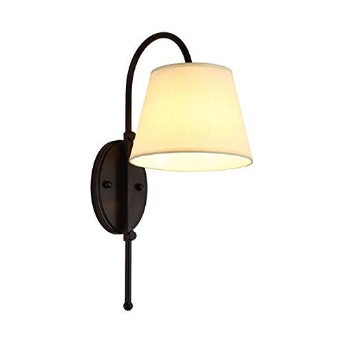 Lámpara de pie de tela de cabecera, dormitorio minimalista de moda de...