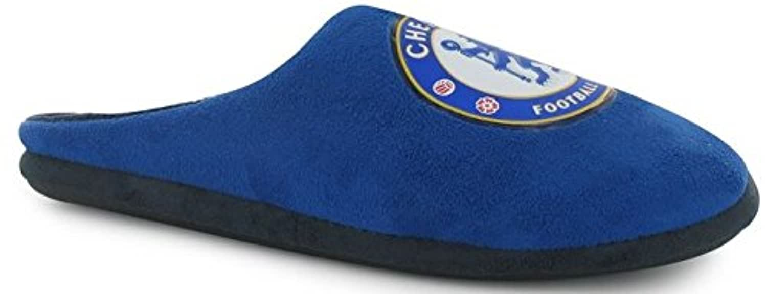 Chelsea FC Boys Football Slippers Junior Official - Blue - Size 3-4