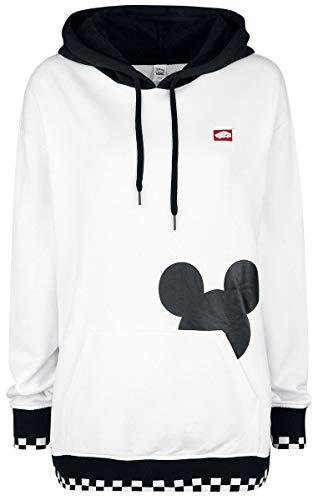 Vans Disney Checkerboard Mickey Jersey con Capucha Mujer Blanco S