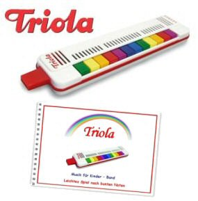 Triola 12 - die beliebte Blasharmonika für Kinder mit 12 Tönen -- im Set mit dem brandneuen Liederbuch Band 4 (deutsche Kinderlieder)