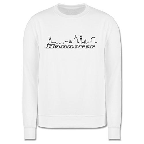 Skyline - Hannover Skyline - Herren Premium Pullover Weiß