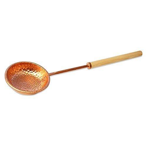 SudoreWell® Saunakelle/Schöpfkelle aus Kupfer mit Holzgriff
