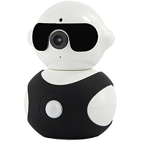 kekexili-mini Robot fotocamera 1280* 960p intelligente IP con pan/tilt HD Wi-Fi Day & Night sorveglianza IP Wireless per neonati Pet sicurezza casa Business, nero