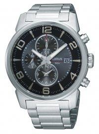 Lorus by Seiko Gents Sports Chronograph Grey Dial Stainless Steel Bracelet Dress Watch RF871CX9
